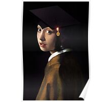 Girl with the Graduation Cap Poster
