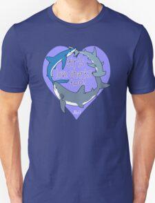 Girls Love Sharks Too! Unisex T-Shirt