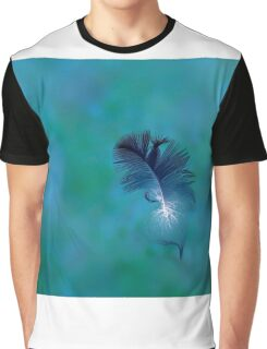 Swimming Feather Graphic T-Shirt