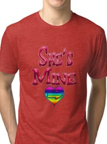 She's Mine (Arrow Pointing Right) Tri-blend T-Shirt