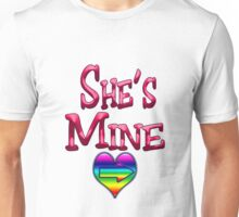She's Mine (Arrow Pointing Right) Unisex T-Shirt