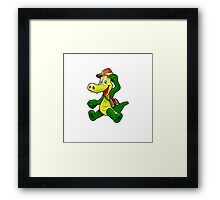 Sweet happy chap Framed Print