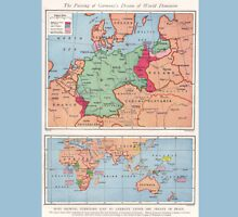 Vintage WW1 Map - Frontiers Of Germany In Europe T-Shirt