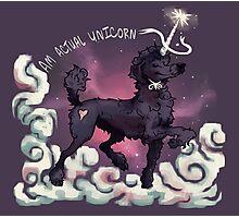 Am Actual Unicorn-Black Photographic Print