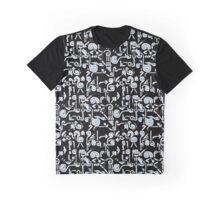 Hieroglyphs Pattern Graphic T-Shirt