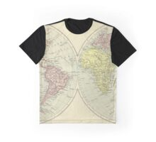 Vintage 1912 Map Of The World Graphic T-Shirt