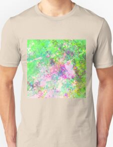 Textured Colour 1 - Study in blue, pink, green and yellow Unisex T-Shirt