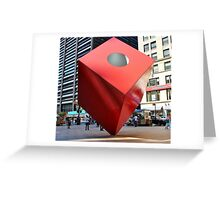 Red Cube Greeting Card