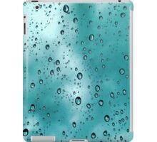 Blue Rain and Clouds iPad Case/Skin