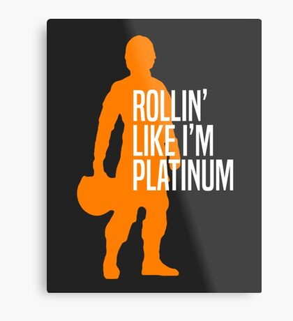 Luke Skywalker - Rollin' Like I'm Platinum Metal Print