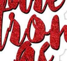 Red Glitter. Sticker