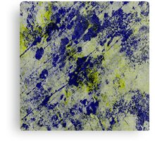 Textured Colour 2 - Study In Blue and Yellow Canvas Print