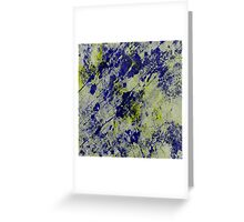 Textured Colour 2 - Study In Blue and Yellow Greeting Card