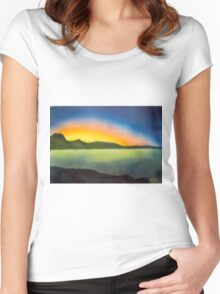 The glow of a setting sun  Women's Fitted Scoop T-Shirt