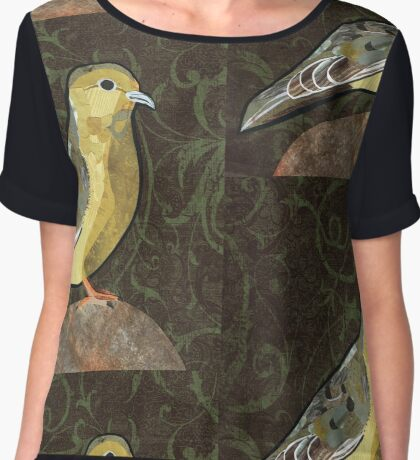 Mourning Dove Chiffon Top
