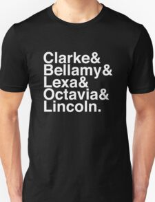 Clarke & Bellamy & Lexa & Octavia & Lincoln. (The 100) (Inverse) Unisex T-Shirt