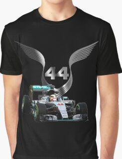 Lewis Hamilton 2016 F1 car driving Graphic T-Shirt