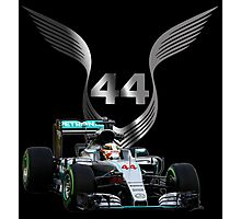 Lewis Hamilton 2016 F1 car driving Photographic Print