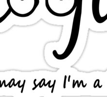 Imagine - John Lennon Tribute Typography Artwork - You may say I'm a dreamer, but I'm not the only one... Sticker