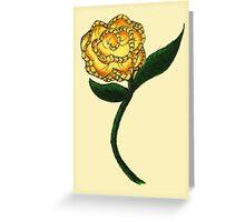 Homespun Rose Greeting Card