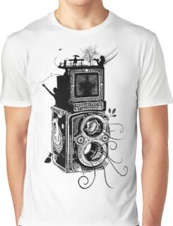 Retro Rolleiflex - Evolution of Photography - Vintage Graphic T-Shirt