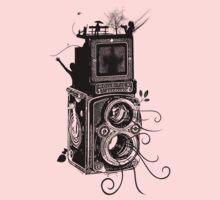 Retro Rolleiflex - Evolution of Photography - Vintage Kids Tee