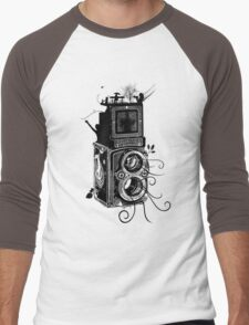 Retro Rolleiflex - Evolution of Photography - Vintage Men's Baseball ¾ T-Shirt