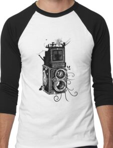 Retro Rolleiflex - Evolution of Photography - Vintage Men's Baseball ¾ T-Shirt