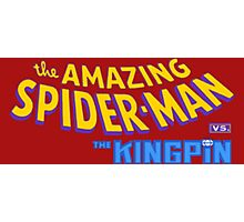 The amazing Spider-Man vs The Kingpin Photographic Print