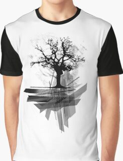Grunge Tree Graphic T-Shirt