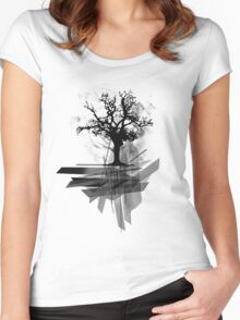 Grunge Tree Women's Fitted Scoop T-Shirt