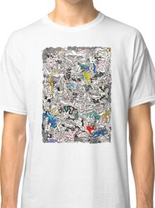 Fun Kamasutra Bodies Figures Doodle in Color Classic T-Shirt