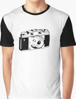 Retro Camera - Photographer T-Shirt Sticker Graphic T-Shirt