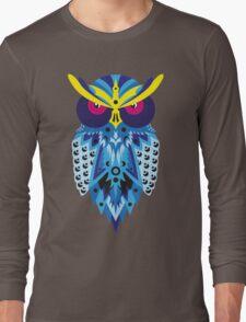 Blue Shaded Owl Long Sleeve T-Shirt