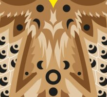 Brown Shaded Owl Sticker