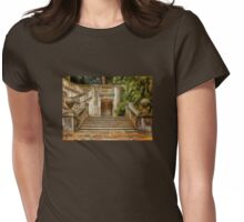 Grand Garden Staircase at Winterthur Womens Fitted T-Shirt