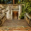 Grand Garden Staircase at Winterthur by Lois  Bryan