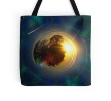 Mini-Planet Lonely Tree Spaced Tote Bag