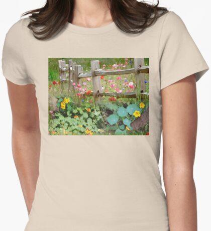 Nasturtium fields Womens Fitted T-Shirt