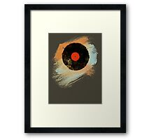 Vinyl Record Retro T-Shirt - Vinyl Records Modern Grunge Design Framed Print