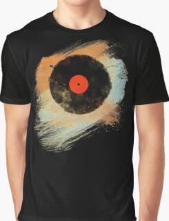 Vinyl Record Retro T-Shirt - Vinyl Records Modern Grunge Design Graphic T-Shirt