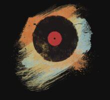 Vinyl Record Retro T-Shirt - Vinyl Records Modern Grunge Design One Piece - Short Sleeve