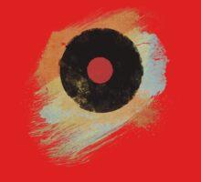 Vinyl Record Retro T-Shirt - Vinyl Records Modern Grunge Design One Piece - Long Sleeve