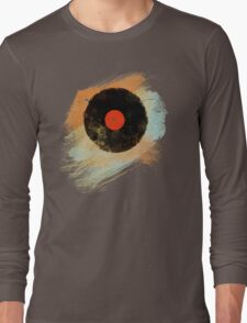 Vinyl Record Retro T-Shirt - Vinyl Records Modern Grunge Design Long Sleeve T-Shirt