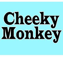 Cheeky Monkey - Toddler Baby Clothing T-Shirt Photographic Print