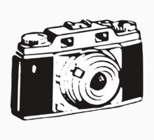 Retro Camera - Photographer T-Shirt Sticker One Piece - Long Sleeve