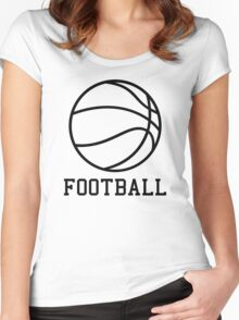 FOOTBALL Women's Fitted Scoop T-Shirt