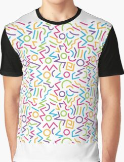 abstract alphabet multicolor Graphic T-Shirt