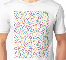 abstract alphabet multicolor Unisex T-Shirt