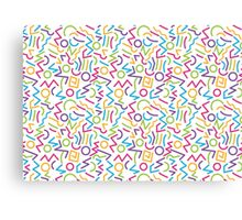 abstract alphabet multicolor Canvas Print